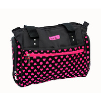 S.B Ava Pink and Black Hearts Nappy Bag